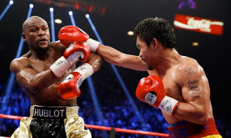 Floyd Mayweather Jr vs Manny Pacquiao. (Dok: hbo)