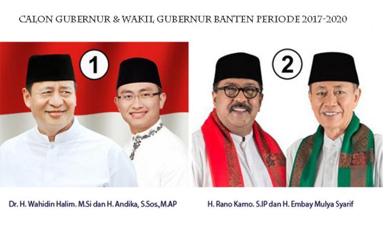 Dua Pasang Calon Gubernur dan Wakil Gubernur Banten periode 2017-2020. (Dok: net)