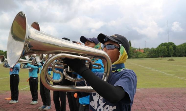 Atlet Gita Surosowan Banten Drum & Bugle Corps Banten. (foto: TitikNOL)
