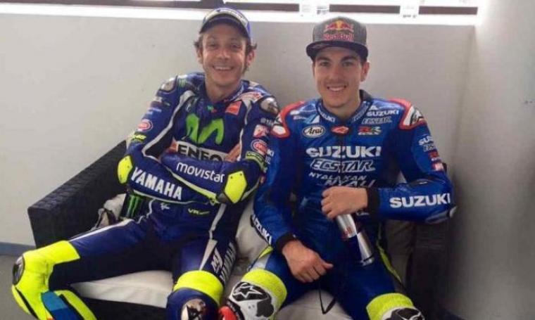 Valentino Rossi dan Maverick Vinales. (Dok: indomoto)