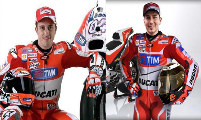 Andrea Dovizioso dan Jorge Lorenzo. (Dok: net)