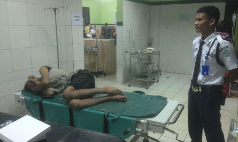 Muhammad Adnan Rhamadhan saat menjalani perawatan di UGD RSUD Kota Cilegon. (Foto: Istimewa)