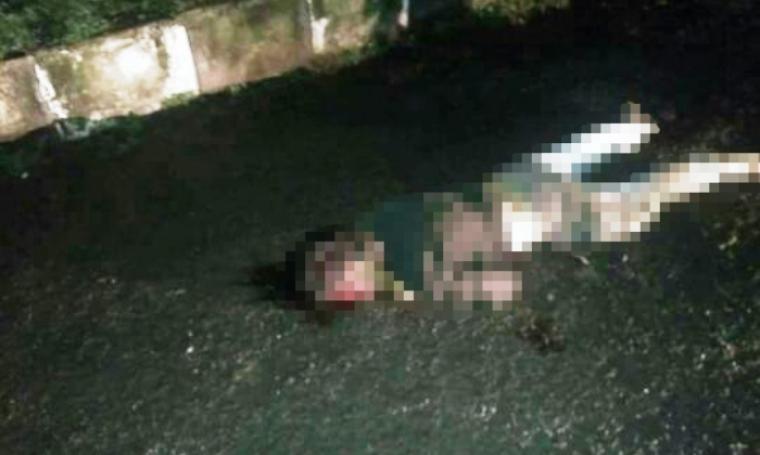 Sugiono Sitompul ditemukan tergeletak di depan Kantor Pemadam Kebakaran Kota Cilegon. (Foto: Istimewa)
