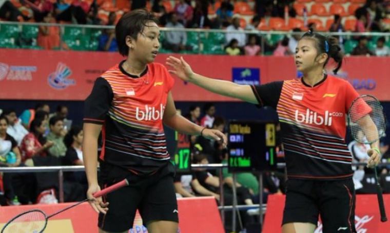 Atlet badminton ganda putri Greysia/Rosyita. (Dok: Badmintonindonesia)