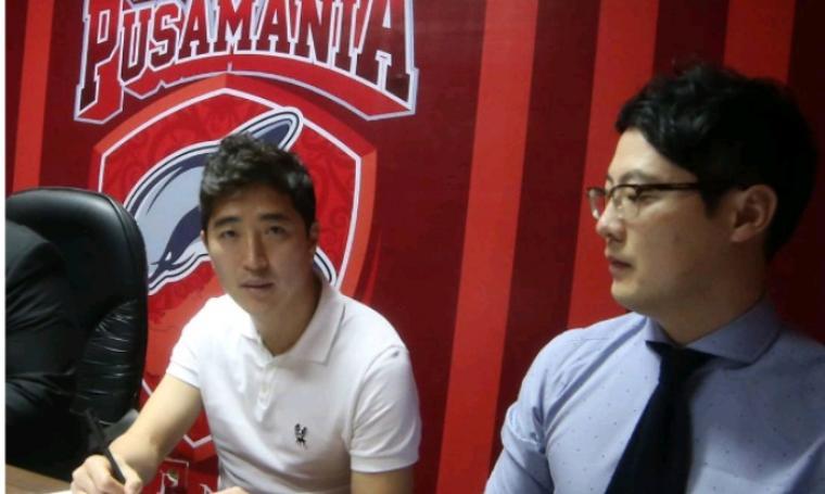 Kim Yong-tae resmi bergabung dengan Borneo FC direkrut tanpa melakukan seleksi. (Dok: pusamaniaborneo)