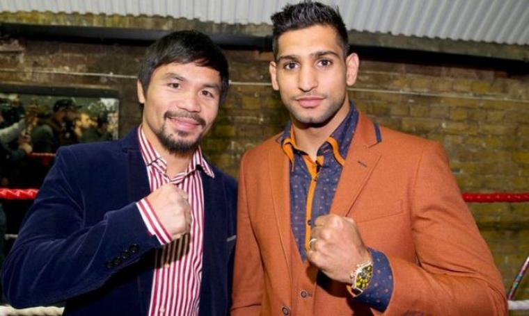 Manny Pacquiao dan Amir Khan. (Dok: mirror)