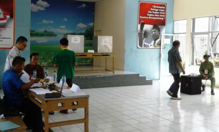 Suasana pemilihan di Rumah tahanan Rangbitung. (Foto:TitikNOL)