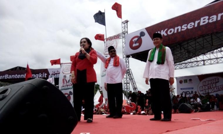 Ketua umum PDI Perjuangan Megawati Soekarno Putri saat memberikan berorasi . (Foto: TitikNOL)