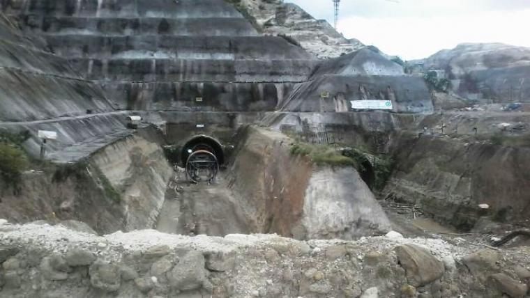 Lokasi tewasnya seorang pekerja proyek Bendung Karian di kabupaten Lebak. (Foto: TitikNOL)