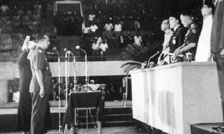 Ilustrasi MPRS Mencabut Mandat Presiden Soekarno. (Dok: Pendidikan60detik)