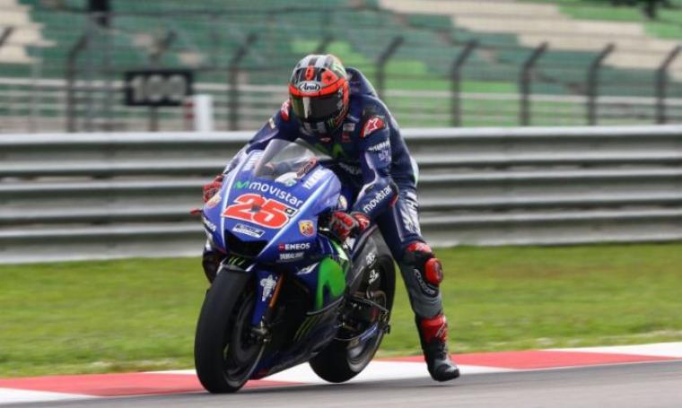 Akibat Cuaca Buruk Dipastikan Tanpa Kualifikasi, Vinales Terdepan di MotoGP Qatar