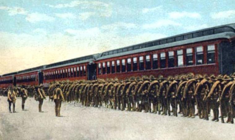 Ilustrasi deklarasi Amerika Serikat yang menyatakan perang terhadap Jerman. (Dok: net)