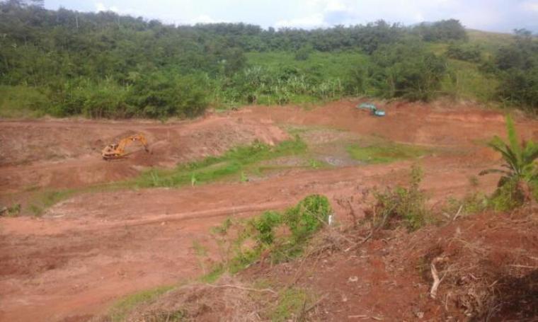 Lokasi proyek rehabilitasi Situ Ciunem di Kecamatan Sajira, Kabupaten Lebak.. (Foto: TitikNOL)