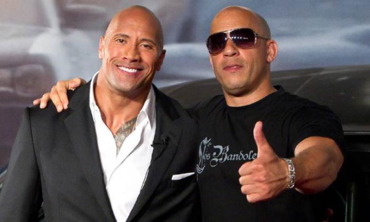 Vin Diesel dan Dwayne Johnson. (Dok: eonline)