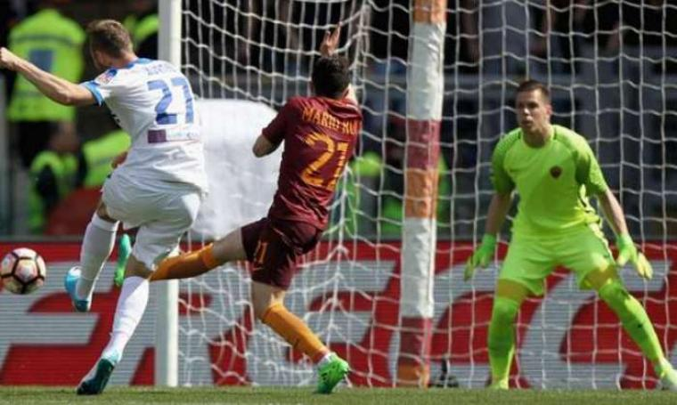 AS Roma bermain imbang 1-1 saat melawan Atalanta. (Dok: goal)