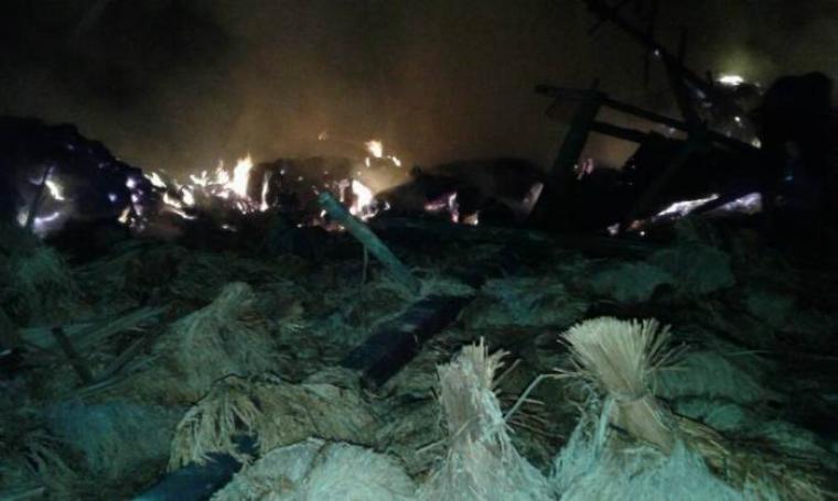 Kondisi permukiman suku Baduy yang terbakar. (Foto: TitikNOL)