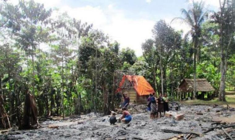 Foto ilustrasi lumbung padi milik warga Baduy terbakar. (Dok: lenteranews)