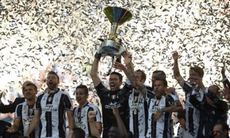 Juventus merayakan gelar Scudetto. (Dok: net)