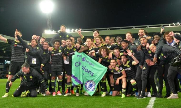 Chelsea Football Club juara Premier League musim 2016/2017. (Dok: thesun)