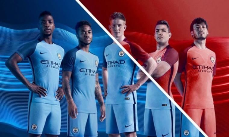 Jersey baru Manchester City musim 2017/2018. (Dok: footyheadlines)