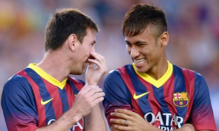 Lionel Messi dan Neymar. (Dok: football)
