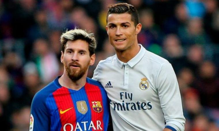 Lionel Messi dan Cristiano Ronaldo. (Dok: mirror)