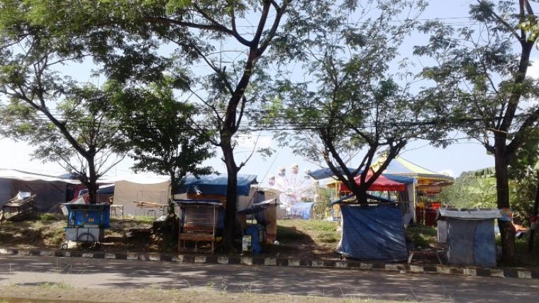Lokasi Pasar Malam di sekitar Pasar Buah Mandala, Kecamatan Cibadak., Kabupaten Lebak. (Foto TitikNOL)