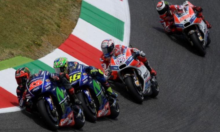 Dovizioso menjadi penantang serius Vinales dan Rossi dalam perebutan gelar juara MotoGP musim ini. (Dok: motoengine)