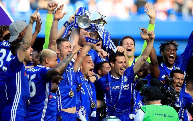 Chelsea juara Premier League musim 2016/2017. (Dok: exlinklodge)