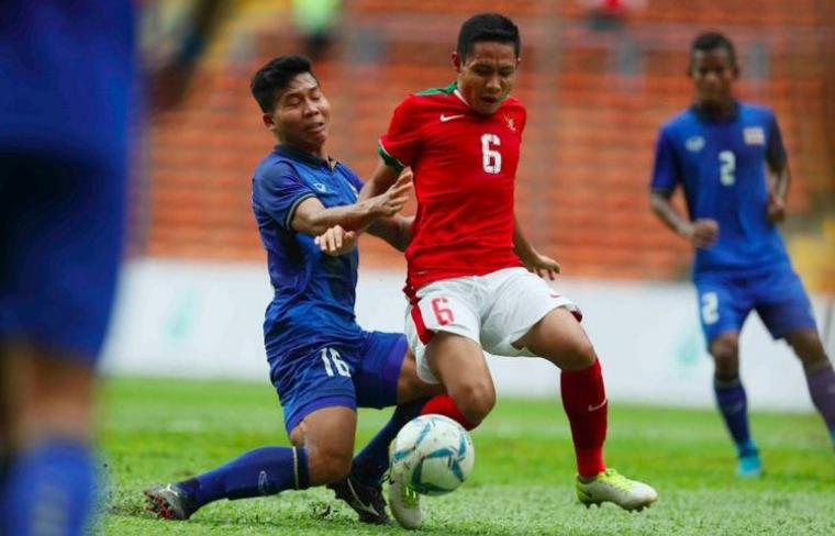Indonesia U-22 vs Thailand. (Dok: kompas)