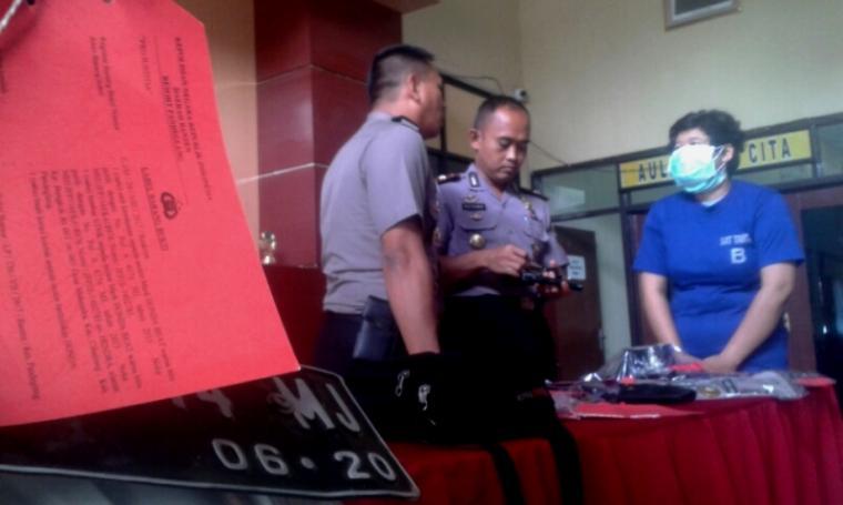 Polres Pandeglang saat menggelar Press Conference. (Foto: TitikNOL)
