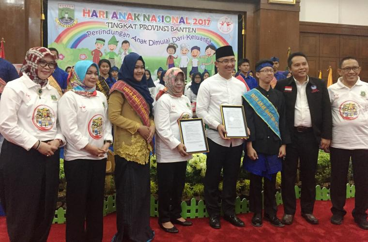 Acara peringatan Hari Anak Nasional tingkat Provinsi Banten di Pendopo Gubernur Banten, KP3B, Curug, Kota Serang. (Foto: TitikNOL)