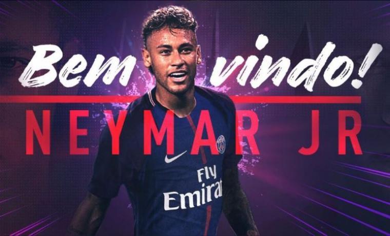 Neymar menandatangani kontrak selama lima tahun di PSG. (Dok: metro)