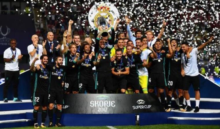 Selebrasi para pemain Real Madrid. (Dok: mirror)