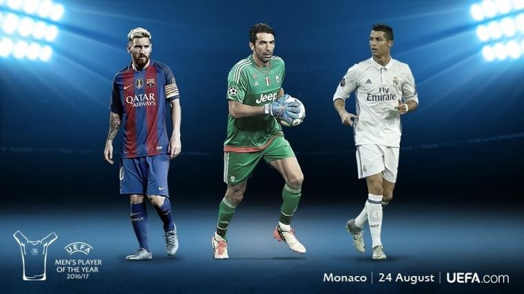 Tiga Kandidat Pemain Terbaik Eropa tahun 2017. (Dok: uefa)
