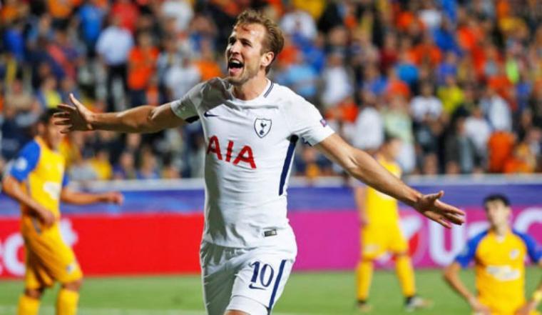 Harry Kane tampil cemerlang dengan mencetak hattrick keenamnya dan membawa Tottenham Hotspur menang 3-0 atas Apoel Nicosia di fase grup H Liga Champions. (Dok: dailystar)