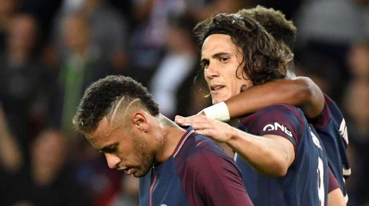 Neymar dan Edinson Cavani. (Dok: givemesport)