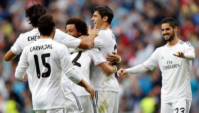Para pemain Real Madrid saat lakukan selebrasi. (Dok: pinterest)