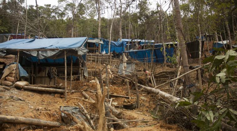 Foto ilustrasi tambang emas ilegal. (Dok: mongabay)