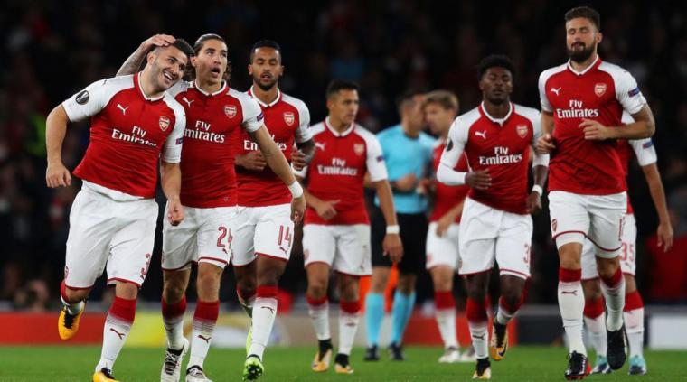 Arsenal menang 3-1 atas FC Koln pada pertandingan pertama Grup H Liga Europa. (Dok: si)