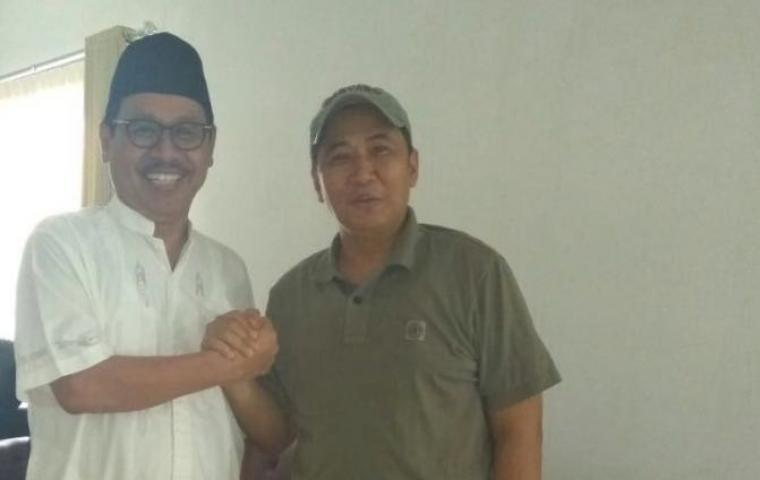 Sekda Banten Ranta Soeharta dan Ketua DPW NasDem Provinsi Banten Wawan Iriawan. (Foto: Ist)