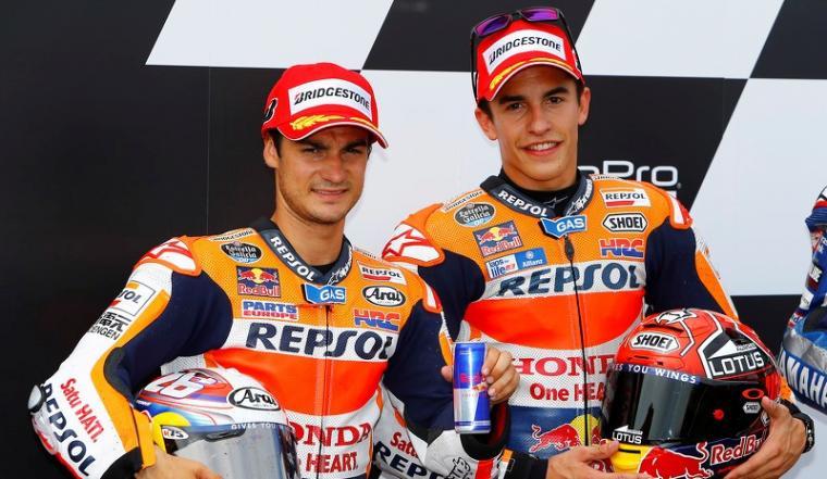 Dani Pedrosa dan Marc Marquez. (Dok: motorsport)