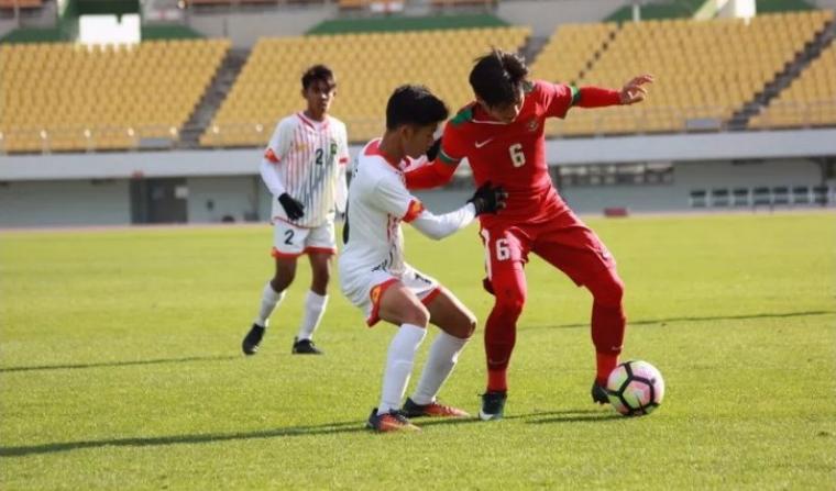 Timnas Indonesia U-19 menang telak atas Brunei Darussalam U-19 di laga pertama Kualifikasi Piala Asia U-19 2018 di Paju Public Stadium, Korea Selatan. (Dok: okezone)