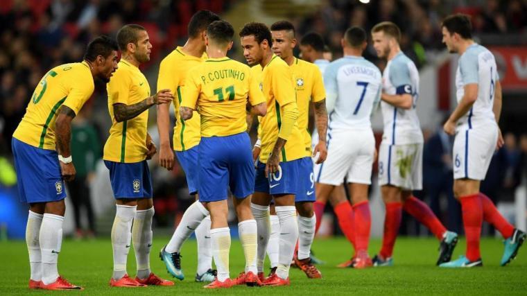 Laga persahabatan Inggris vs Brasil yang berakhir imbang tanpa gol. (Dok: standard)