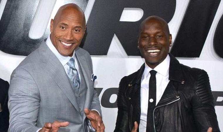 Dwayne Johnson dan Tyrese Gibson. (Dok: dailymail)