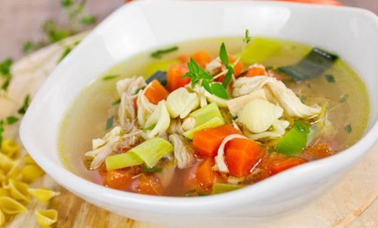 Ilustrasi sup ayam. (Dok: green.healthfoodxdrinks)
