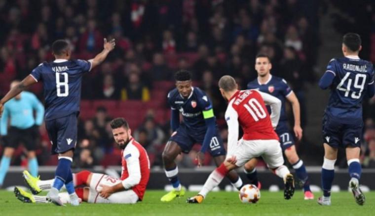 Arsenal vs Crvena Zvezda. (Dok: net)