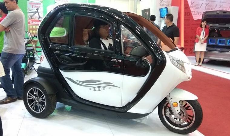 Kendaraan listrik roda tiga selis. (Dok: dapurpacu)