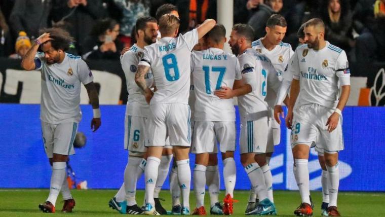 Pemain merayakan gol yang dicetak Nacho Fernandez ke gawang APOEL. (Dok: marca)