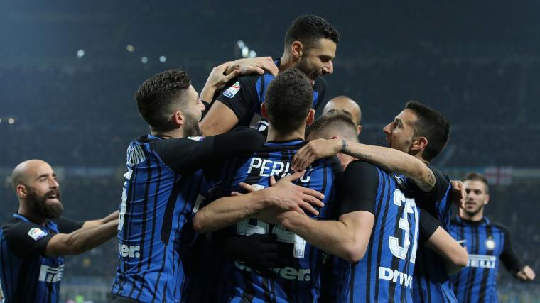 Kegembiaraan para pemain usai Mauro Icardi menetak gol kedua bagi Inter. (Dok: si)